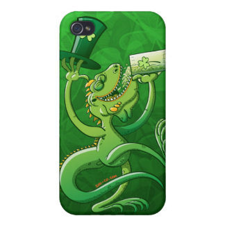 Saint Patrick's Day Iguana Cover For iPhone 4