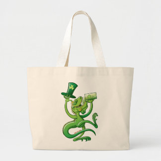 Saint Patrick's Day Iguana Jumbo Tote Bag