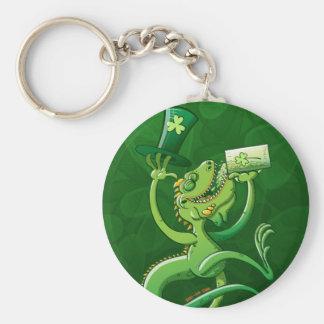 Saint Patrick's Day Iguana Keychain