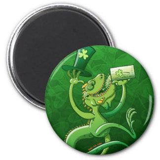 Saint Patrick's Day Iguana Fridge Magnets