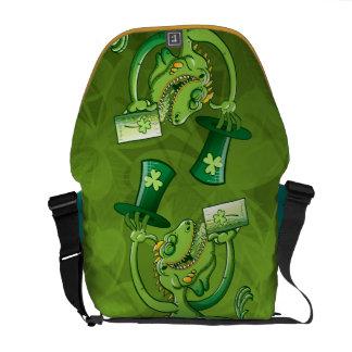 Saint Patrick's Day Iguana Commuter Bags