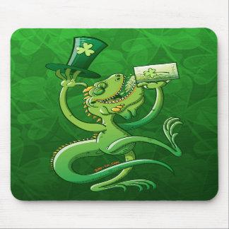 Saint Patrick's Day Iguana Mouse Pads