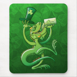 Saint Patrick's Day Iguana Mouse Pad
