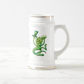 Saint Patrick's Day Iguana Coffee Mugs