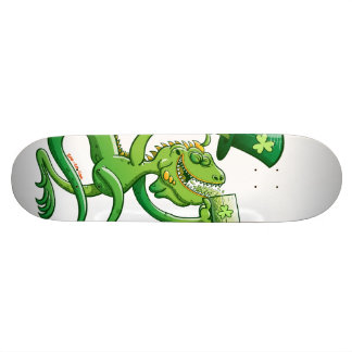 Saint Patrick's Day Iguana Skateboard Decks