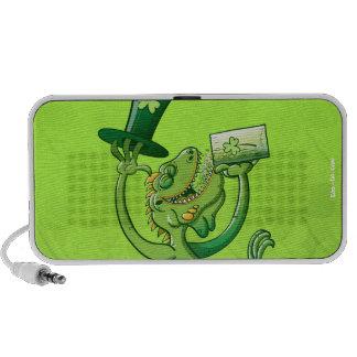 Saint Patrick's Day Iguana Notebook Speaker