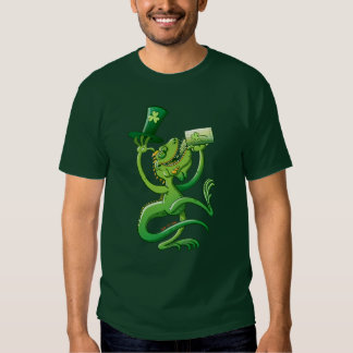 Saint Patrick's Day Iguana Tee Shirt