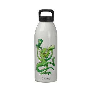 Saint Patrick's Day Iguana Water Bottles