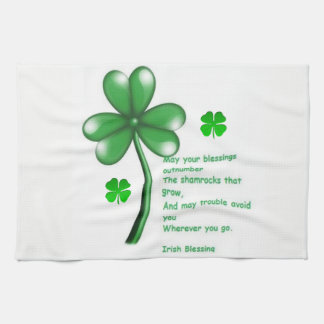 Saint Patrick's Day Kitchen Hand Towel