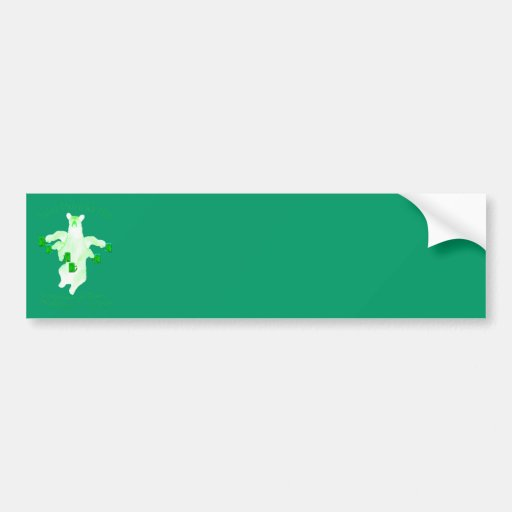 Saint Patrick's Day Leprechauns and Fester Equals Bumper Stickers