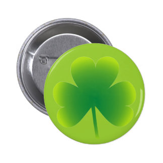 Saint Patrick's Day Shamrock 6 Cm Round Badge