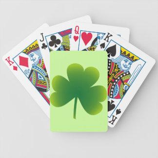 Saint Patrick's Day Shamrock Bicycle Playing Cards