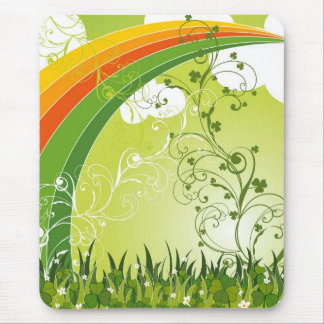 Saint Patrick's Day Shamrock Lucky Clovers Leaves Mouse Mat