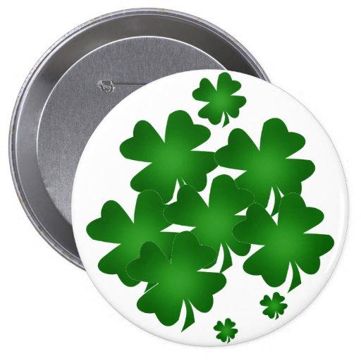 Saint Patrick's Day Shamrocks Button