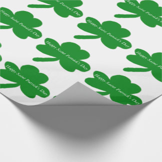 Saint Patrick's Day Shamrocks Wrapping Paper