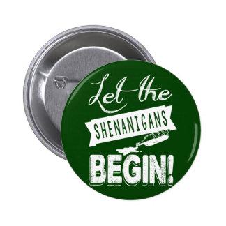 Saint Patricks Day Shenanigans 6 Cm Round Badge