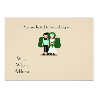 Saint Patrick's Day Wedding Card