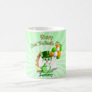 Saint Patrick's Green Bunny Cartoon Coffee Mug