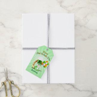 Saint Patrick's Green Bunny Cartoon Gift Tags