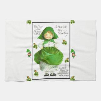 saint patricks green kitchen hand towel