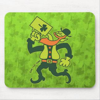Saint Patrick's Irish Man Drinking Beer Mouse Pad
