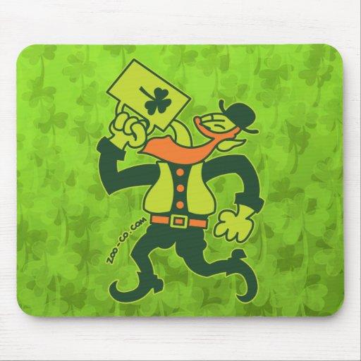 Saint Patrick's Irish Man Drinking Beer Mouse Pads
