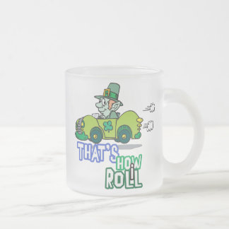 Saint Patty's Day Leprechaun Frosted Glass Coffee Mug