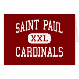 Saint Paul - Cardinals - High - Shiner Texas Greeting Card