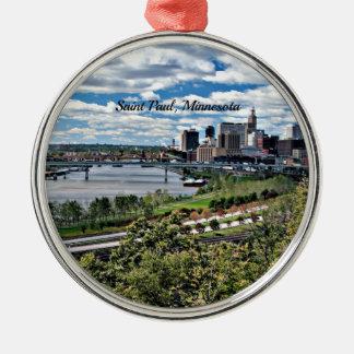 Saint Paul, Minnesota Landscape Silver-Colored Round Decoration