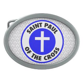 Saint Paul of the Cross Oval Belt Buckle