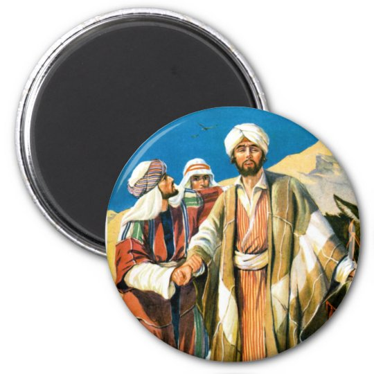 Saint Paul on the Road to Damascus 6 Cm Round Magnet
