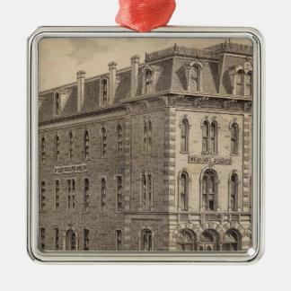 Saint Paul Press Company Silver-Colored Square Decoration