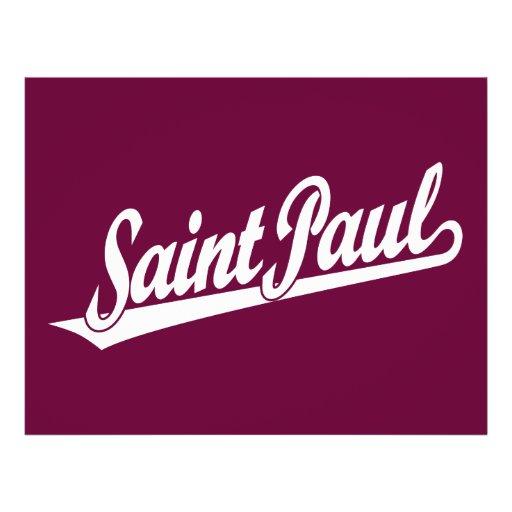 Saint Paul script logo in white Custom Flyer