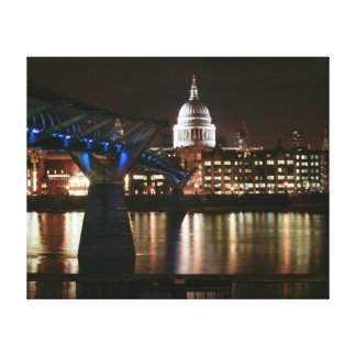 Saint Paul's at night - London Stretched Canvas Prints