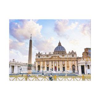 Saint Peter at the Vatican Canvas Prints