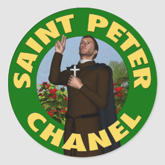 Saint Peter Chanel Round Sticker
