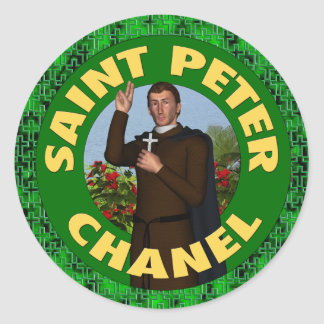 Saint Peter Chanel Round Sticker