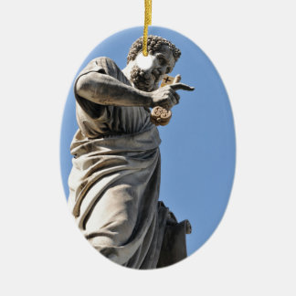 Saint Peter statue in Rome, Italy Christmas Ornament