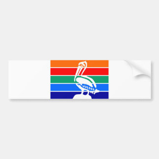 Saint Petersburg city flag  Florida America Bumper Sticker