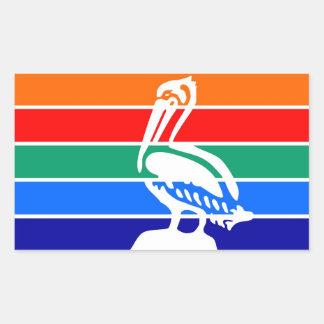 Saint Petersburg city flag  Florida America Rectangular Sticker