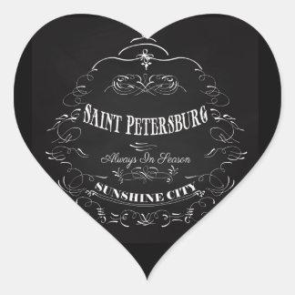 Saint Petersburg Florida Art - Always in Season Heart Sticker