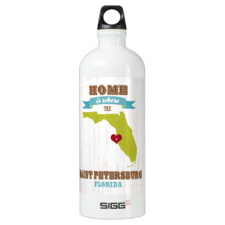 Saint Petersburg, Florida Map – Home Is Where SIGG Traveller 1.0L Water Bottle
