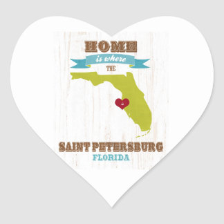 Saint Petersburg, Florida Map – Home Is Where Stickers