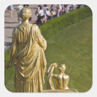 Saint Petersburg, Grand Cascade fountains 10 Square Sticker