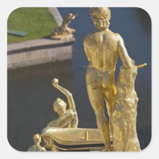 Saint Petersburg, Grand Cascade fountains 13 Square Sticker