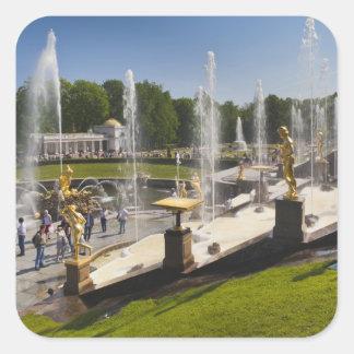 Saint Petersburg, Grand Cascade fountains 14 Square Sticker
