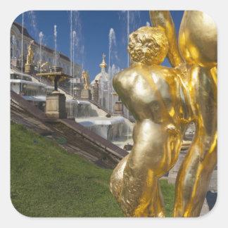 Saint Petersburg, Grand Cascade fountains 2 Square Sticker