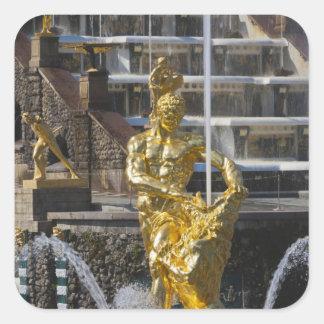 Saint Petersburg, Grand Cascade fountains 3 Square Sticker