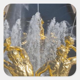 Saint Petersburg, Grand Cascade fountains 4 Square Sticker