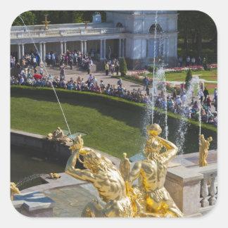 Saint Petersburg, Grand Cascade fountains 5 Square Sticker